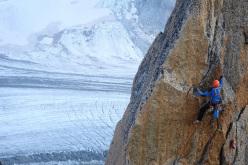Swiss alpinist and rock climber Michel Piola.