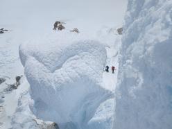 The last pitch of the Ragni route, Cerro Torre