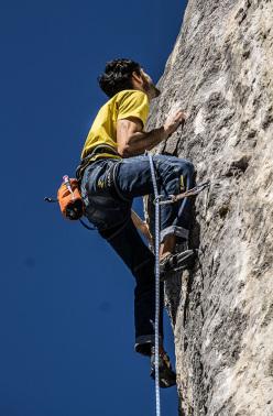 Tiziano Asperti climbing Feedback 8b, Cornalba