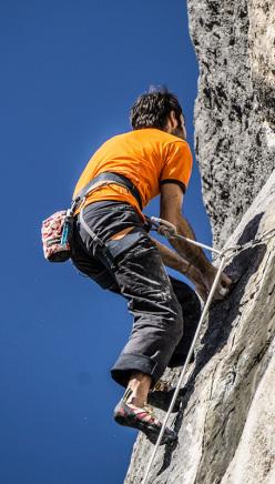 Daniele Calegari climbing Feedback 8b, Cornalba