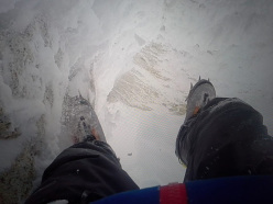 Markus Pucher soloing Cerro Torre in raging storm on 27/12/2014
