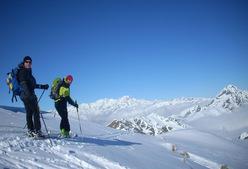 Panorama sul Monte Rosa dalle Alpi Biellesi.