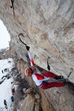 During the Ice Climbing Ecrins meeting at Argentière - La Bessée