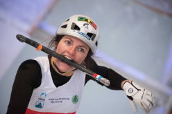 Coralie Jary during the Ice Climbing World Cup 2015 at Cheongsong