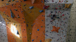 Adam Ondra climbing at the King Rock gym in Verona