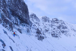 During the approach to The Greatest Show On Earth, X/10 (Greg Boswell and Guy Robertson) Coira Gorm, Cul Mor, Scotland
