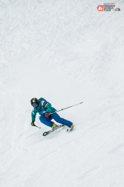 During the first stage at Chamonix of the Swatch Freeride World Tour by The North Face