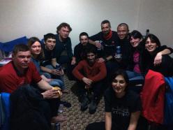 Foto di gruppo ice climber