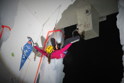 The Champagny stage of the Ice Climbing World Cup 2015