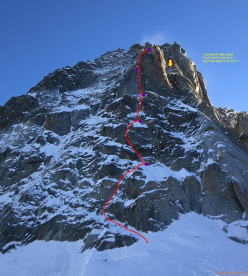 Chancer (M6, 250m, Matt Helliker, Jon Bracey 20/12/2014), Tour Ronde parete NO
