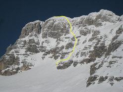 Jof di Montasio, prima discesa con gli sci dalla parete sud per Vuerich