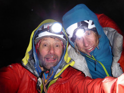 Night Fever, West Face Tour Ronde: Nick Bullock and Matt Helliker back at the skis after climb