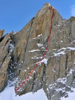 Night Fever (M8, 250m, 08/01/2015 Nick Bullock, Matt Helliker), Tour Ronde West Face Tour Ronde