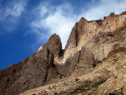 Climbing at Los Arenales in Argentina:  Campanille & Charles Webis