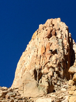 Climbing at Los Arenales in Argentina: Ag. Campanile