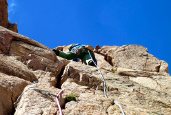 Climbing at Los Arenales in Argentina: perfect granite
