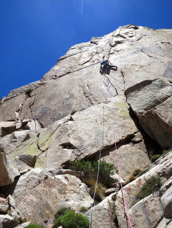 Climbing at Los Arenales in Argentina: perfect splitter cracks at 3000m