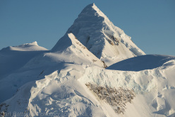 Mount Russell (11,670ft)is an isolated peak on the western edge of Denali National Park and Preserve. Arguably one of the most beautiful mountains in the Alaska Range, it sees very few climbers.