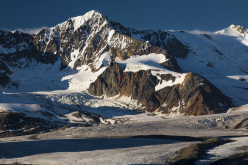 The rarely climbed Mount Thoreau is just one of hundreds of beautiful peaks that make up the Delta Mountains. The Delta Mountains are the most accessible mountains in the Alaska Range and offer a variety of fun, challenging peaks.