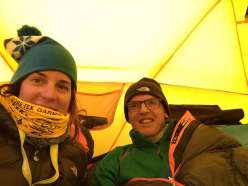 Simone Moro and Tamara Lunger, Manaslu Base Camp interview
