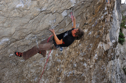 Lukasz Dudek repeating Martin Krpan 9a at Osp, Slovenia