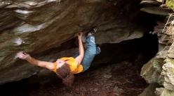 Giorgia Tesio climbing Alphacentaury (stand start) 8A, Varazze