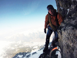 Tom Ballard on the Traverse of the Gods, North Face of the Eiger