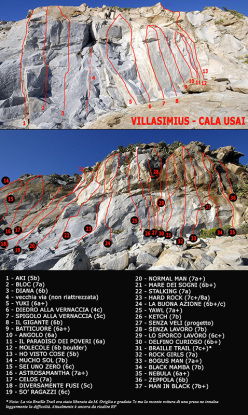 The crag Cal usai - Villasimius in Sardinia