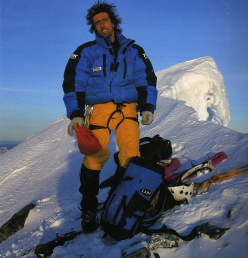 Patrick Berhault during his traverse of the Alps from Slovenia to the Mediterranean.