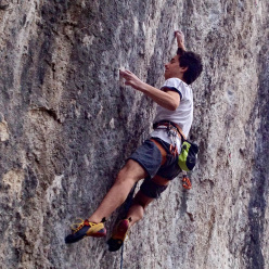 16 year old Italian climber Matteo Menardi repeating Nove G, the 9a freed by Adam Ondra at Gemona.
