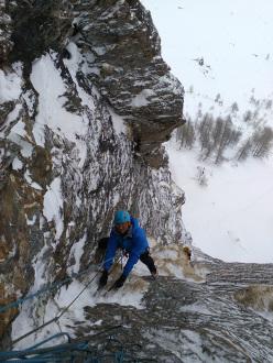 Mario Colli climbing La Ragione è la passione