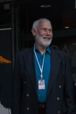 Sir Chris Bonington during day 1 of the Piolets d'Or 2015 at Chamonix