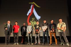 Piolets d'Or 2015: Chris Bonington, Aleš Česen, Doug Scott, Marko Prezelj, Luka Lindič , Alexei Lonchinskiy, Tommy Caldwell, Alexander Gukov