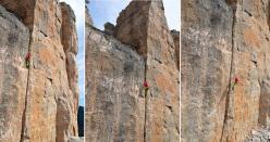 Maurizio Oviglia fallisce l'on sight in apertura di Thai Chi, Su Sussiu, Ulassai, Sardegna