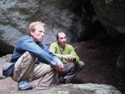 Jacky Godoffe e Simone Pedeferri al Melloblocco nel 2007.
