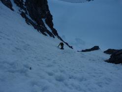 Königsspitze West Face, via Zebrusius: the start