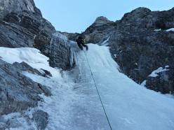 Königsspitze West Face, via Zebrusius: the hidden drip