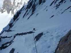 Königsspitze West Face, via Zebrusius: ever upwards