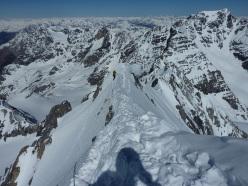 Königsspitze West Face, via Zebrusius: close to the sky
