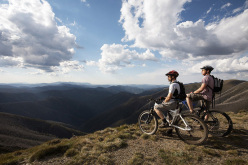 Mountainbike a Mount Hotham High Country, Victoria, Australia