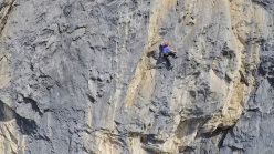 Matteo Della Bordella and Eugenio Pesci making the first ascent of If, Monte Cavallo