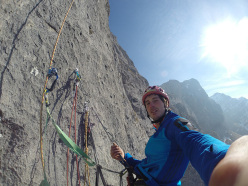 Matteo Della Bordella and Eugenio Pesci making the first ascent of If, Monte Cavallo