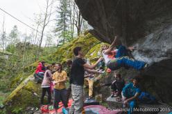 Melloblocco 2015 day 4 Valdo Chilese climbing Samba do Brasil