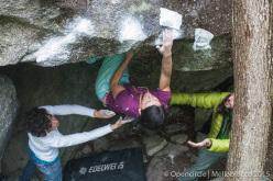 Melloblocco 2015 day 4 Raffaella Cottalorda climbing Il Quadrifoglio