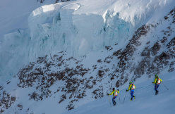 Mezzalama 2015: descent from Lyskamm's Nose