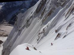 Pain de Sucre (3607m) parete nord per Davide Capozzi, Julien Herry e Francesco Civra Dano