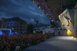 Durante la finale del Campionato Europeo di Boulder a Innsbruck: Anna Stöhr