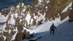 The descent down Monviso