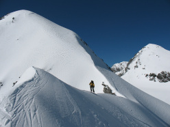 Cima Tuckett ski mountaineering: the descent from Madaccio di Dentro