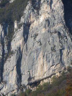 During the first ascent of Spirito Baldense (6b, 150m), Spalti di Pratovecchio, Val d'Adige